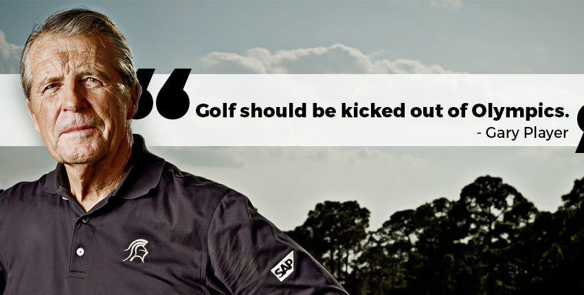 Golfing Legend Gary player on why he feels golf should be kicked out of Olympics.