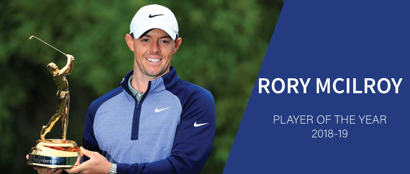 Rory McIlroy wins the PGA Tour Player of Year Award
