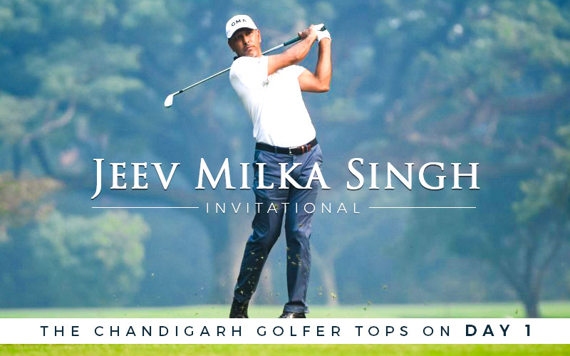 Jeev Milkha Singh Invitational: The Chandigarh golfer tops on day one