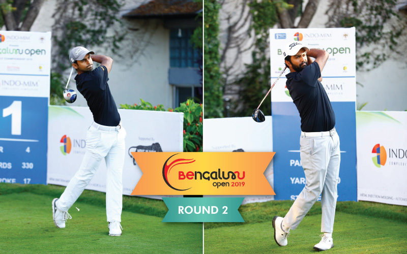 Trishul Chinnappa and Sudhir Sharma are on top at the halfway stage of Bengaluru Open