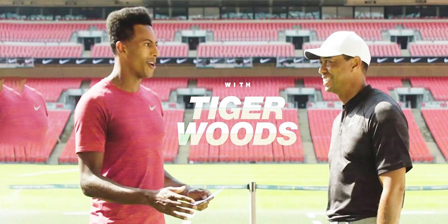 Tiger Woods does crazy trick shots