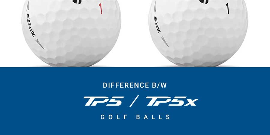 Difference between TP5 and TP5x golf balls