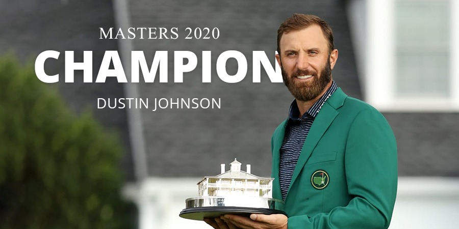 World No.1 Dustin Johnson wins 2020 Masters with record low score