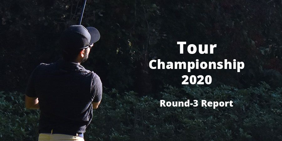 Three-way tie for the lead heading into final round at Tour Championship