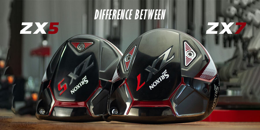 Difference between Srixon ZX5 & ZX7 drivers