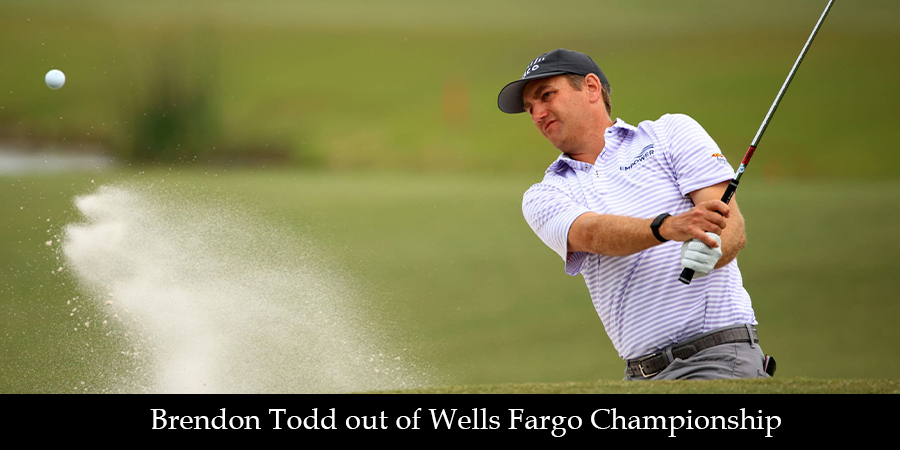 Brendon Todd tests positive for COVID-19, withdraws from Wells Fargo Championship