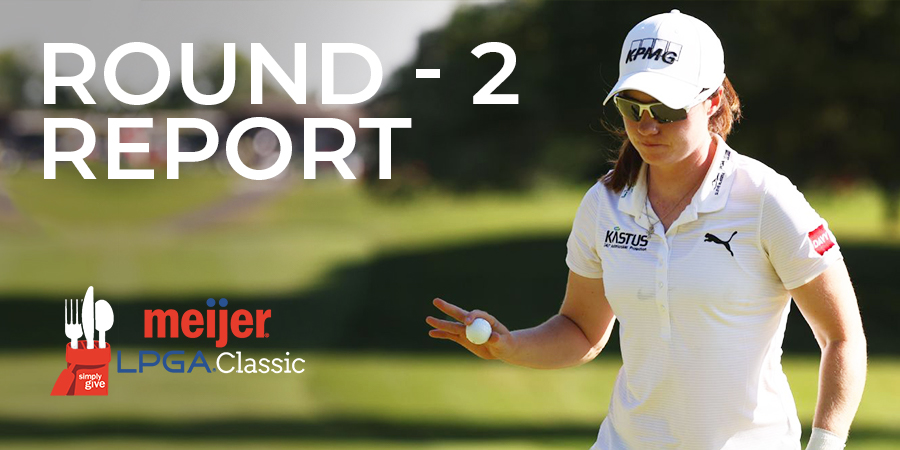 Leona Maguire shoots 64 to take 36-hole clubhouse lead at Meijer LPGA Classic