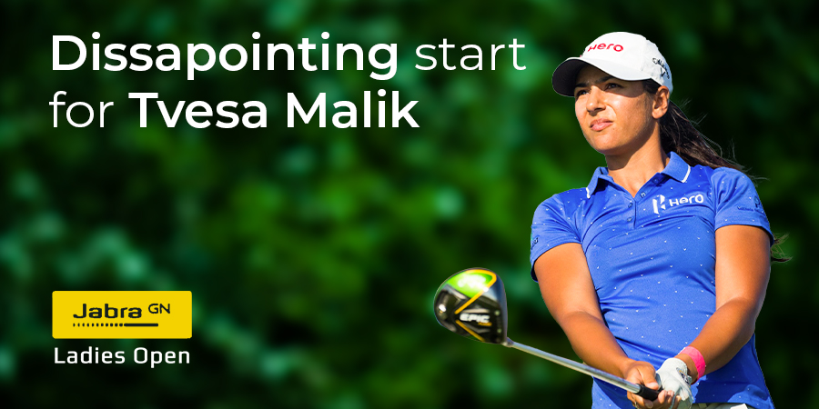 Tvesa Malik opens with a dreary 75 in the first round of Jabra Ladies Open
