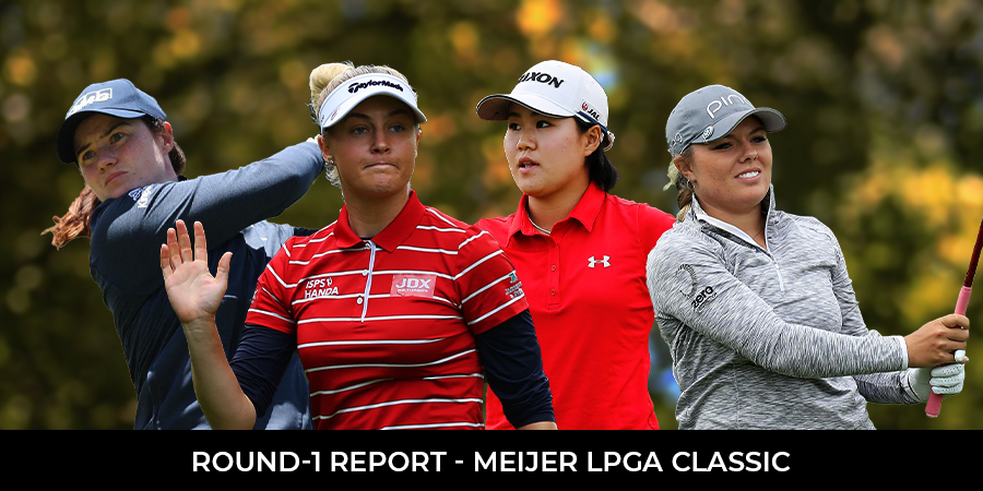 Four players share the lead after 18 holes at the Meijer LPGA Classic