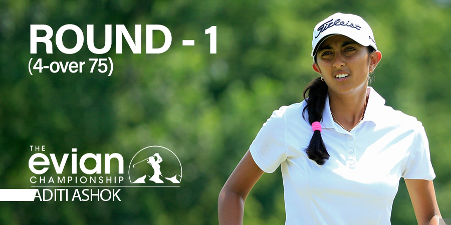 Aditi Ashok gets off to a disappointing start at Evian Championship