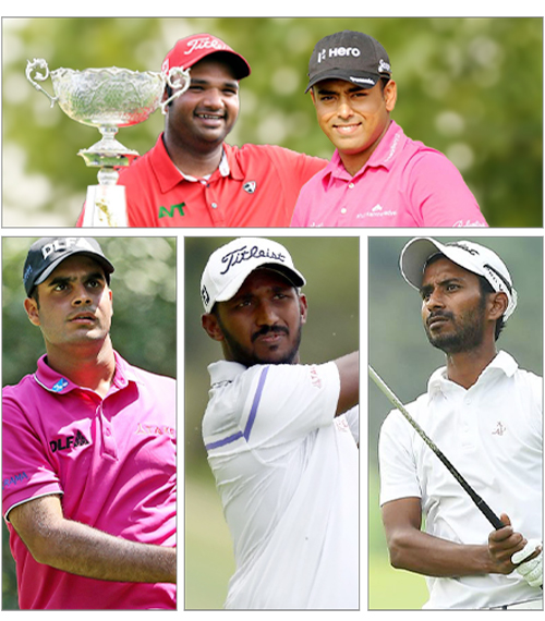Indian golfers at glance