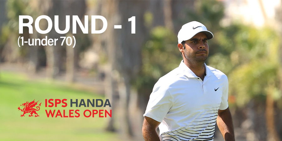 Shubhankar starts with a decent 70, lies T-32 at Wales Open