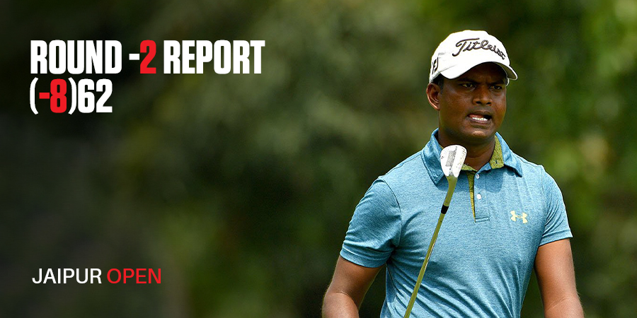 M Dharma takes three-shot lead at halfway point of Jaipur Open