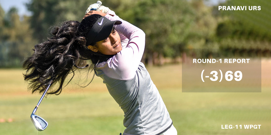 Pranavi Urs fires 3-under 69 to grab first-round lead in eleventh leg of Hero WPGT